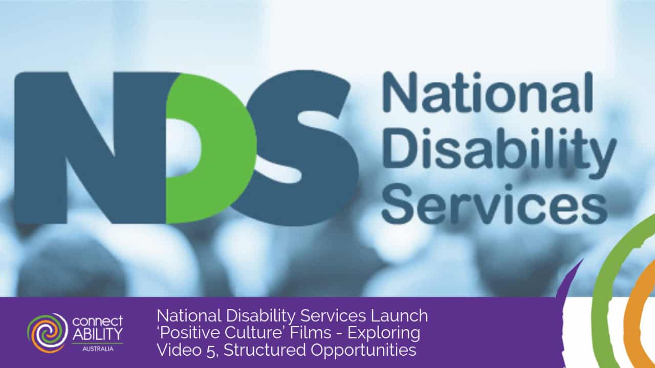 National Disability Services Launch 'Positive Culture' Films - Exploring Video 5, Structured Opportunities
