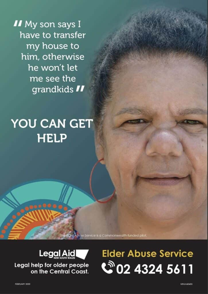 Elder Abuse service poster - Disability Services & Aged Care Support - ConnectAbility