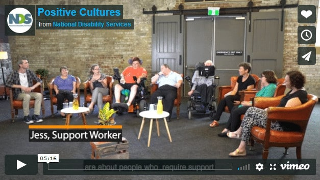 National Disability Services Launch 'Positive Culture' Films - Exploring Video 2, Power and Control | National Disability Service