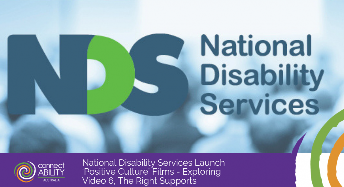 National Disability Services Launch 'Positive Culture' Films - Exploring Video 6, The Right Supports